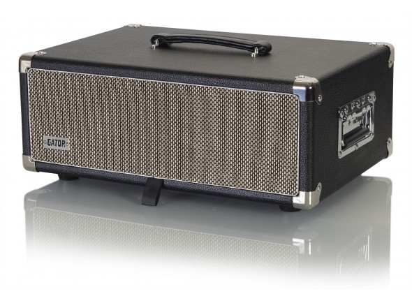 Cases Gator GR-RETRORACK-3BK Vintage Amp Vibe Rack Case - 3U Black