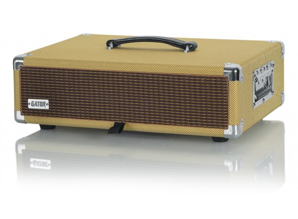 Cases Gator GR-RETRORACK-2TW Vintage Amp Vibe Rack Case - 2U Tweed