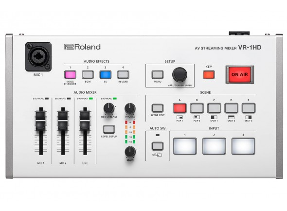 Mesa de Edição de Vídeo Roland VR-1HD Mesa Mistura Video para Livestreaming