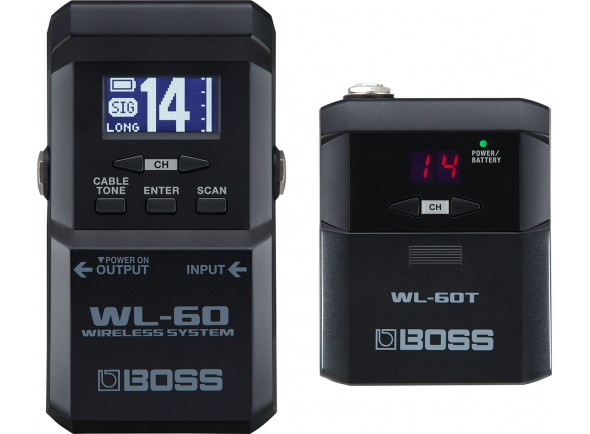 Sistemas sem fio para guitarra e baixo BOSS WL-60 Wireless System
