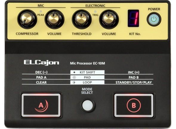 Módulos de bateria eletrónica Roland EC-10M Modulo de Sons para Cajon Acústico com Microfone incluido