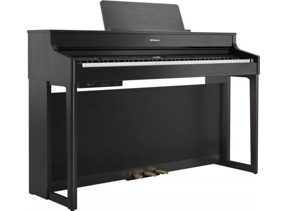 Pianos Digitais de Móvel Roland HP702 CH Charcoal Black Piano Premium
