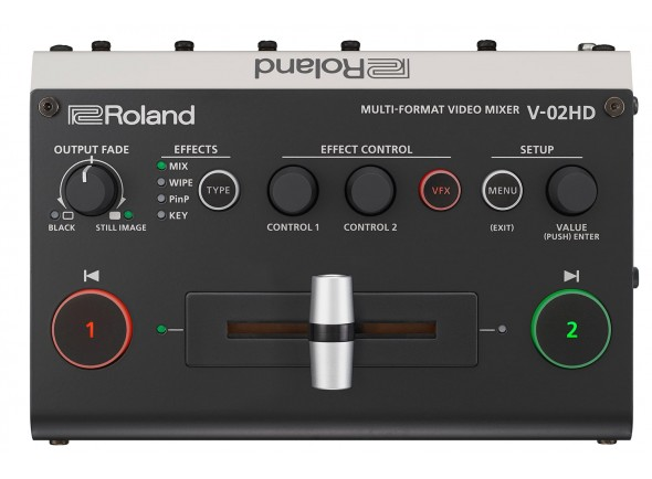 Roland V-02HD Multi-Format Video Mixer HD HDMI livestreaming videostreaming