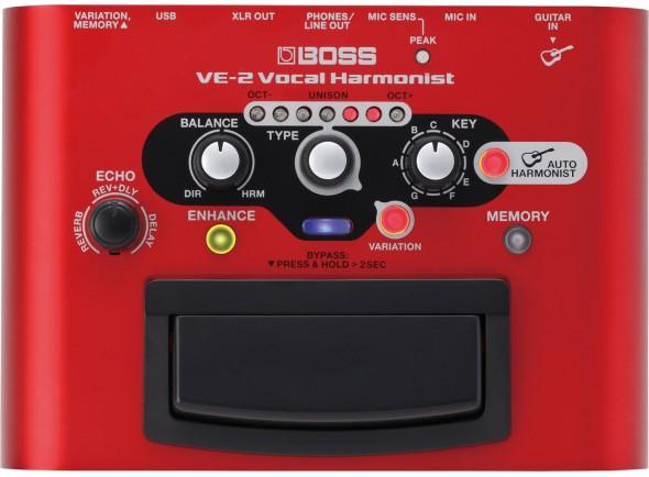 Processadores para vocalistas BOSS VE-2 Processador de Voz Harmonist