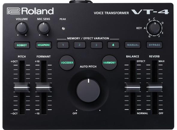 Processadores para vocalistas Roland VT-4 Processador de Voz