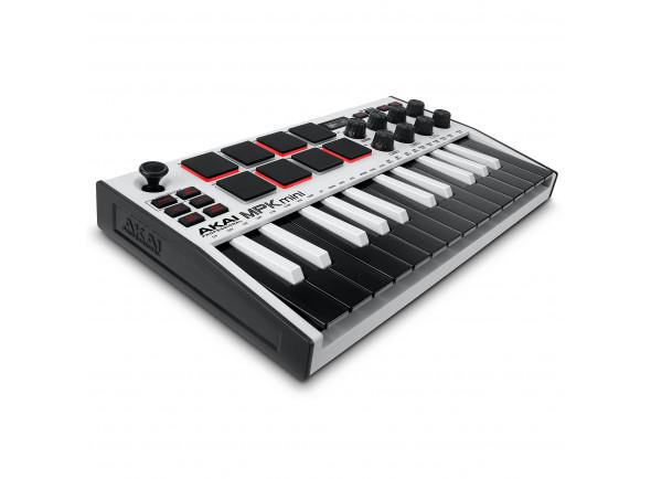 Controladores midi até 25 teclas Akai Professional MPK Mini MK3 White