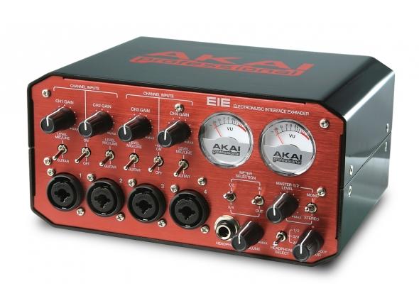 Akai EIE B-Stock  Akai EIE - Um interface ideal para ligar todos os seus instrumentos ao PC / Mac , via USB.   44.1 kHz  16 bits  USB 1.1 (compatível com portas USB 1.1 e 2.0)  PC / MAC class-compliant  Grava 2 canais (stereo) para o PC/Mac  Plug & Play  4 entradas XLR/Jack (combo) c/ phantom power e controle de ganho  4 saídas jack para 2 saídas stereo de monição  2 VU clássicos  MIDI (din 5 pinos)  Saída p/ auscultadores