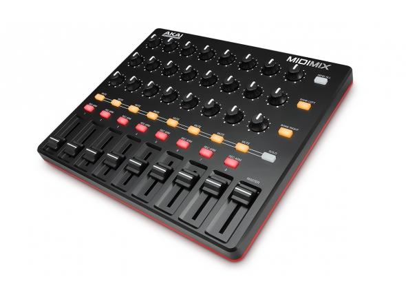 Akai Midimix B-Stock   Akai Midimix Controlador Midi  8 faders de linha individuais, 1 master fader  24 botões, combinações de 3 por canal  16 botões em 2 bancos com função mute, solo e gravação por canal  Ableton Live Lite incluído