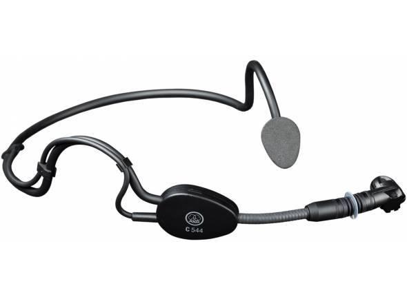AKG C 544 L  Microfone de cabeçaAKG C 544 L - Condensador de fone de ouvido para Speach e aplicações desportivo - Muito leve e confortável - 20-20,000 Hz