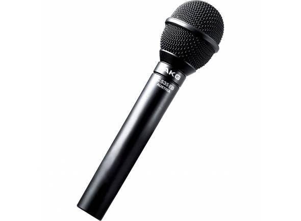 AKG C535EB  Microfone condensadorAKG C535EB - Padrão polar cardióide - 14dB pad comutável ( 100Hz / 12dB e 500Hz / 4 dB ) - Inclui suporte e bolsa - Pára-brisas opcional disponível (W 23)