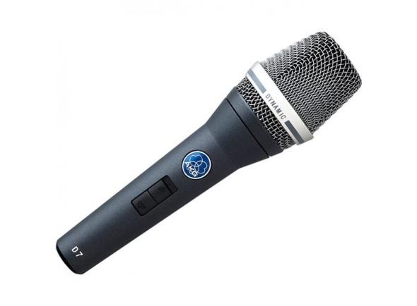 AKG D-7S  Diafragma patenteado (Laminated-Varimotion) Windscreen interno com novo design Todas as nuances de um microfone condensador, com a potência de um dinâmico