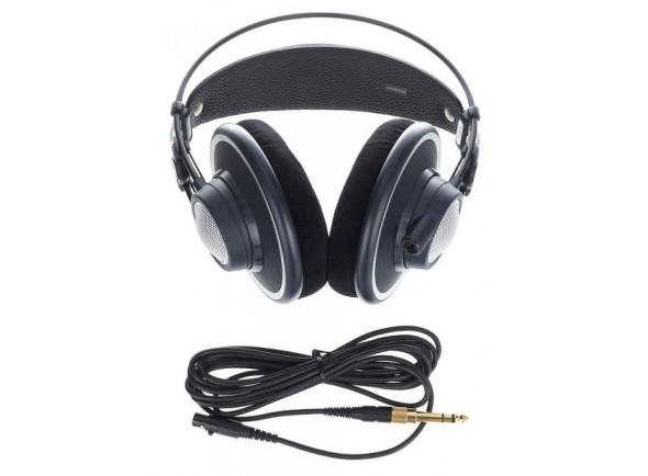 AKG K702  Para audição precisão, mixagem e masterização   Max. Poder de entrada de 200 mW  largura de banda freqüência áudio 10-39.800 Hz  Sensibilidade 105 dB SPL / V