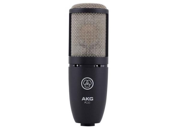 AKG P220 B-Stock  Microfone de membrana grandeAKG P220 - Microfone condensador de diafragma AKG P220 - Caixa metálica - Padrão polar cardióide