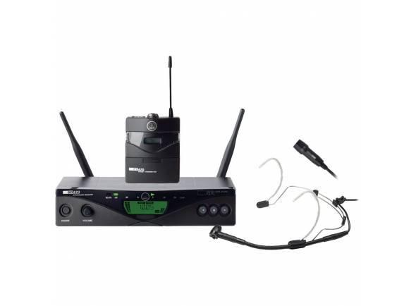 AKG WMS 470 Presenter Set Band 10   1 x SR470 receptor  1 x transmissor de corpo-pack PT470  1 x C555 L Microfone de cabeça