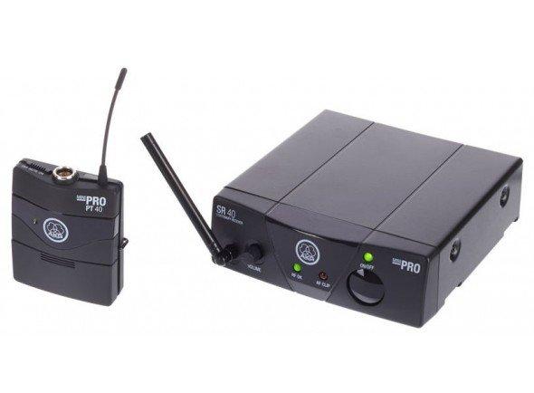 AKG WMS40 Mini Instrumental  Sistemas sem fio para guitarras e baixosAKG WMS40 Mini Instrumental - AKG WMS 40 Mini Instrumento ISM1 - UHF Wireless- System com transmissor de bolso - Receptor não Diversidade com saída jack equilibrada ajustável