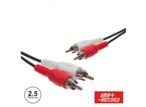 Alpha Elettronica 2-RCA MACHO / 2-RCA MACHO PVC 2.5M