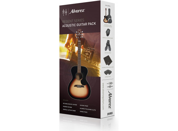 Guitarras Folk Alvarez  RF26SSB-AGP Satin Sunburst