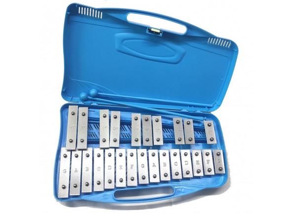 Instrumento Orff Alysée   MT25-CR-BL Metalofone Cromático 25 Note Blu