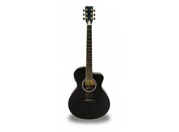 APC EA 100 BLK CW  Guitarra electro-acústica com cut away, na cor preta, fabrico Português.   Poro aberto  Tampo: Spruce Maciço  Aros e Fundo: Sapelli
