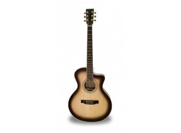 APC EA 100 SB CW   Guitarra Eletroacústica APC EA 100 SB CW  Poro aberto  Tampo: Spruce Maciço  Aros e Fundo: Sapelli  Braço: Mogno  Escala: African Blackwood