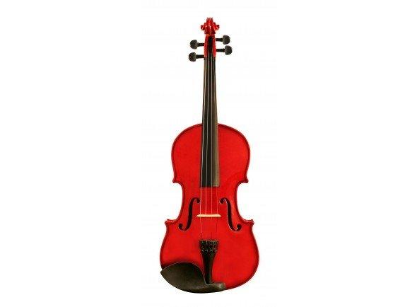 Ashton AV 442 R  Perfeito para aprender a tocar o instrumento   Com estojo e arco  Inclui resina e almofada  Cor Vermelha