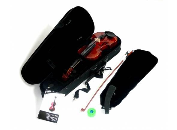 Ashton AV142AVN  Violino 1/4 Completo Natural AV142 AVN   Com estojo e arco  Inclui resina e almofada  Cor Natural