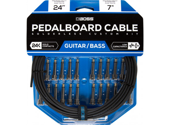 Fichas Jack de 6.3mm (macho e fêmea) BOSS BCK-24 Solderless Pedalboard Cable Kit 7m