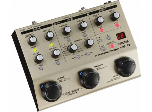 Processadores para vocalistas BOSS VE-8 Acoustic Singer