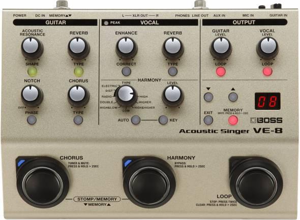 Processadores para vocalistas BOSS VE-8 Harmonizer Profissional