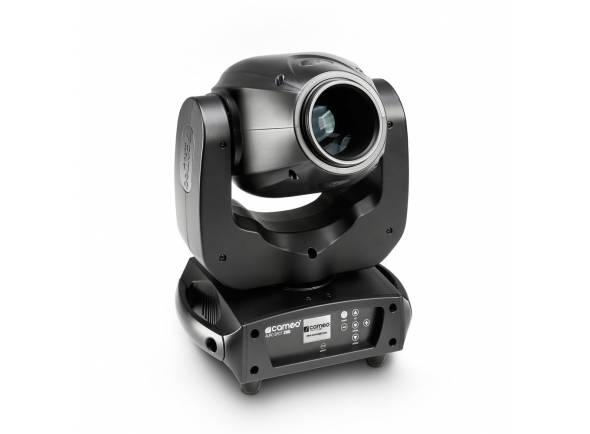 Cameo Auro Spot 100  O Cameo Auro® SPOT 100 é um RDM permitiu mover a cabeça ultra brilhante com resolução de 16-bit, 630 ° pan e 235 movimentos ° de inclinação e de alta velocidade motores de 3 fases.