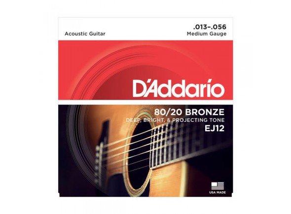D´Addario Jogo Cordas Guitarra Acústica Bronze Daddario EJ12 013-056