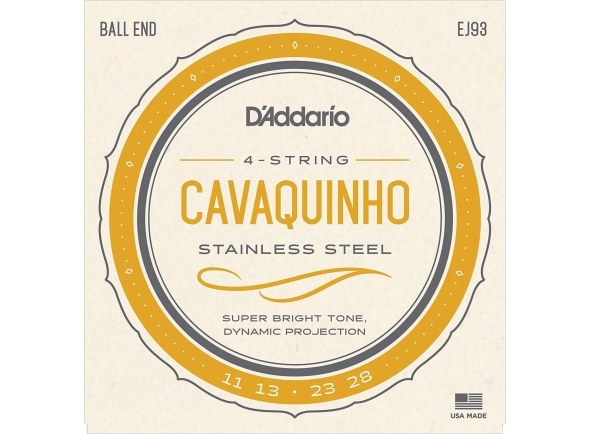 Conjuntos de cordas para cavaquinho D´Addario EJ93