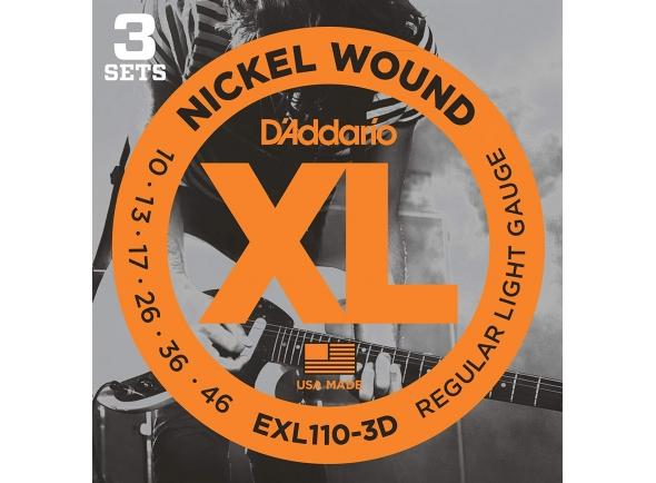 Jogo de cordas .010 D´Addario EXL110-3D