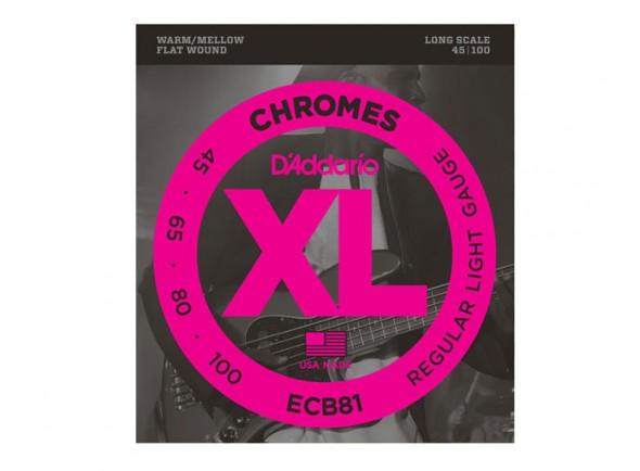 D´Addario Jogo de Cordas 045 Baixo Eléctrico 4 Cordas ECB81 Chromes