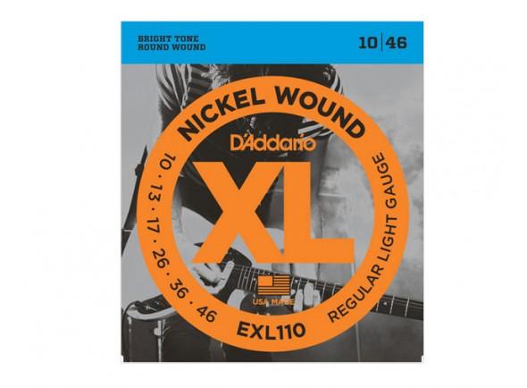 D´Addario Jogo de Cordas Aço 010 Guitarra Eléctrica EXL110 10-46