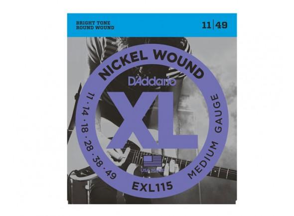 D´Addario Jogo de Cordas Aço 011 Guitarra Eléctrica EXL115 11-49