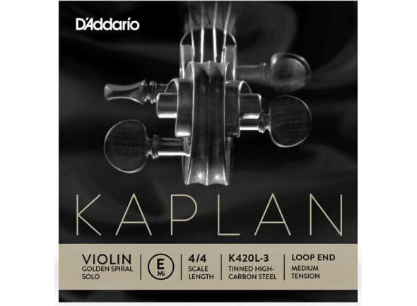 Cordas D´Addario Kaplan Golden Spiral Solo E Loop