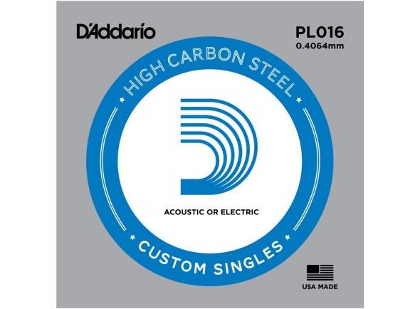 Cordas individuais para guitarra D´Addario PL016 Single String