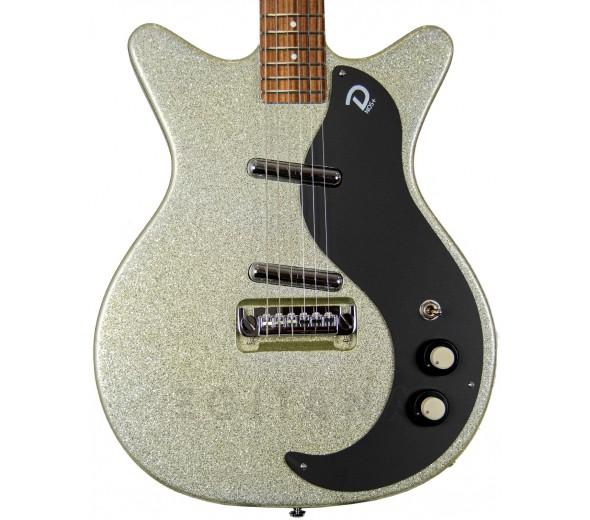 Outros formatos Danelectro 59M NOS+ Silver MetalFlake 60th anniversary