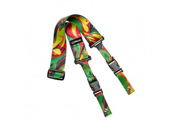 Correia de nylon DiMarzio DD2241 Cliplock Steve Vai Green Universe