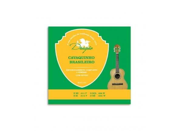 Conjuntos de cordas para cavaquinho Dragão 058 para Cavaquinho Brasileiro de 4 Cordas