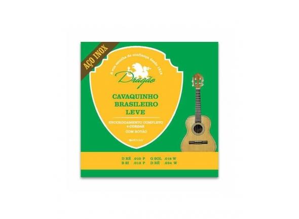 Conjuntos de cordas para cavaquinho Dragão 083 para Cavaquinho Brasileiro Leve Aço Inox