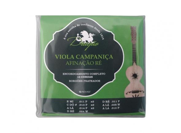 Cordas para Guitarra Portuguesa Dragão Campaniça Afinação Ré 10 Cordas