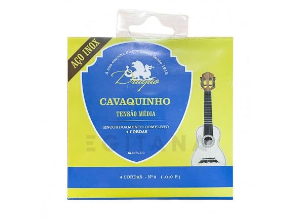 Conjuntos de cordas para cavaquinho Dragão Inox Encordoamento Completo 4 cordas Nº9 .010P