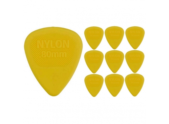 Palhetas para guitarra Dunlop 0.80 mm Nylon Midi