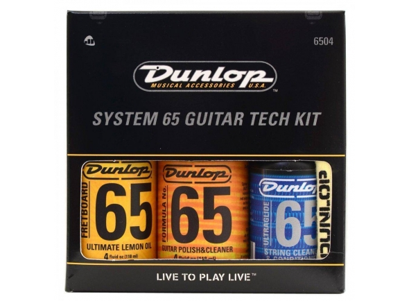 Produtos de limpeza para guitarra Dunlop 6504 System 65 Guitar Tech Kit