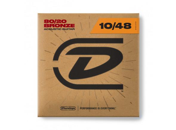 Jogo de cordas .010 Dunlop  80/20 Bronze Acoustic Guitar 10-48