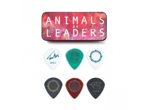 Dunlop Caixa em metal com 6 palhetas ANIMALS AS LEADERS AALPT01