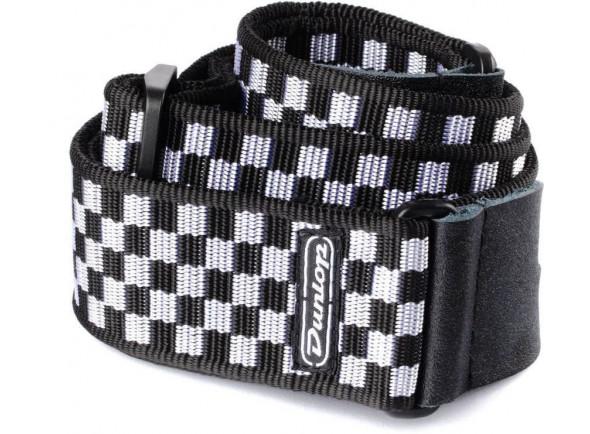 Correia de nylon Dunlop  D38-31BK B&W Check