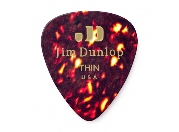 Dunlop Genuine Celluloid Classic Picks, Player's Pack, 12 pcs., shell, thin